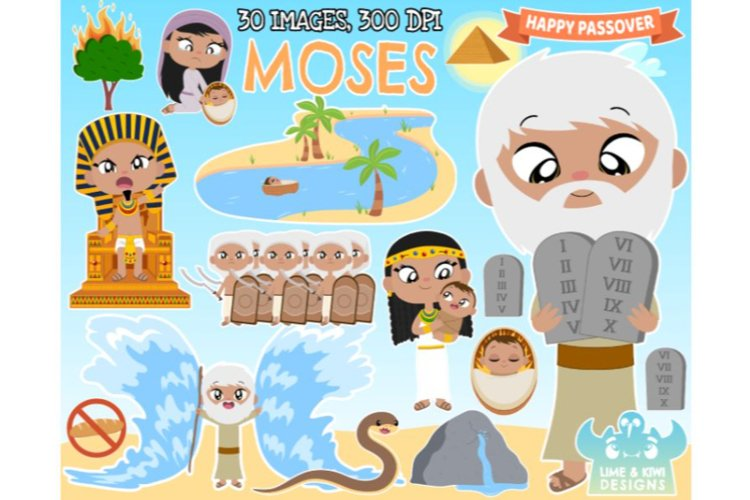 Moses Clipart - Lime and Kiwi Designs