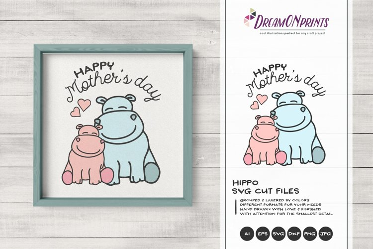 Hippo Svg Mother Baby Svg Mother S Day Svg 251912 Cut Files Design Bundles