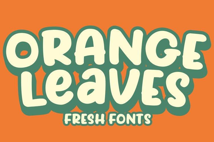 Orange Leaves example image 1