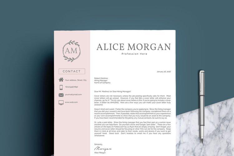 Professional Creative Resume Template - Alice Morgan - Free Design of The Week Design3