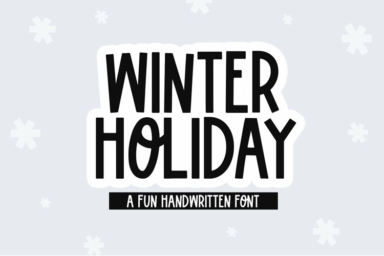 Web Font Winter Holiday - A Fun Handwritten Font example image 1