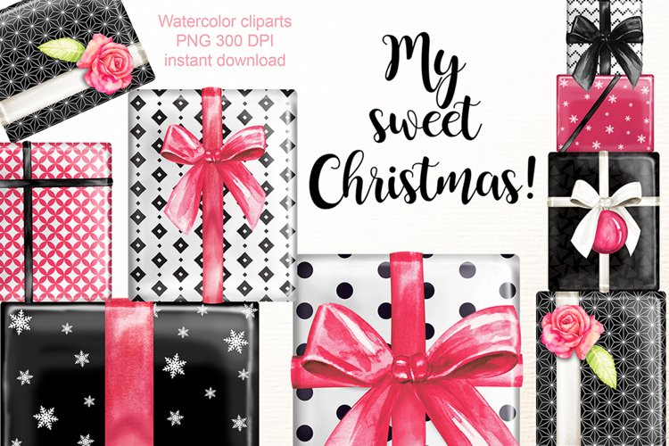 Christmas gifts clipart example image 1