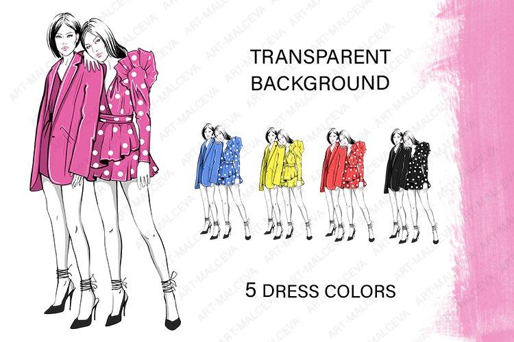 Fashion Png Clipart 2 girls