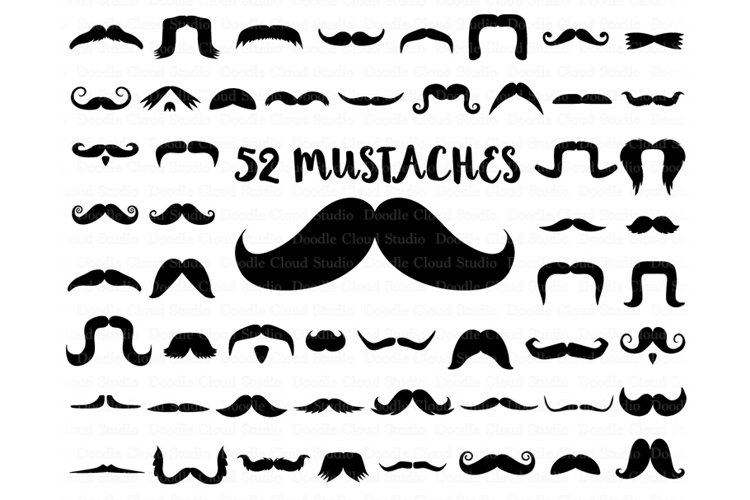 Mustaches SVG Files, Mustache SVG Files, Mustache Clipart,