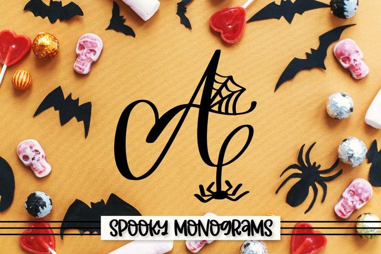 Spooky Monograms - A Halloween Monogram Font example image 1