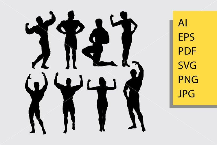 Bodybuilding 3 silhouette example image 1