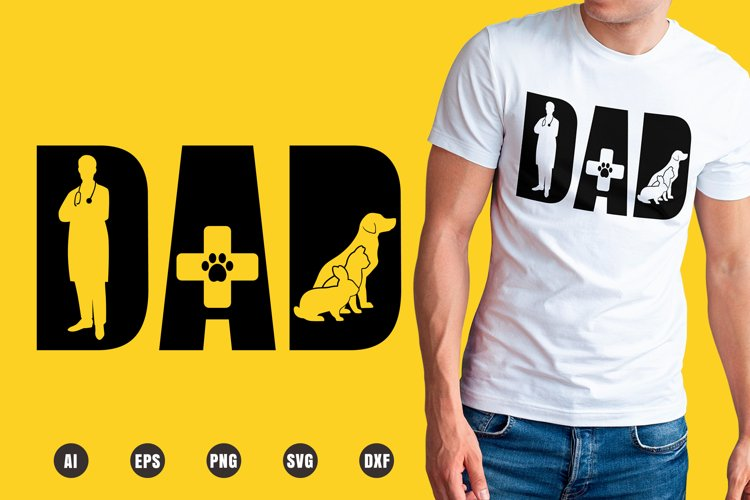 Dad Veterinarian SVG - Father's Day Designs example image 1