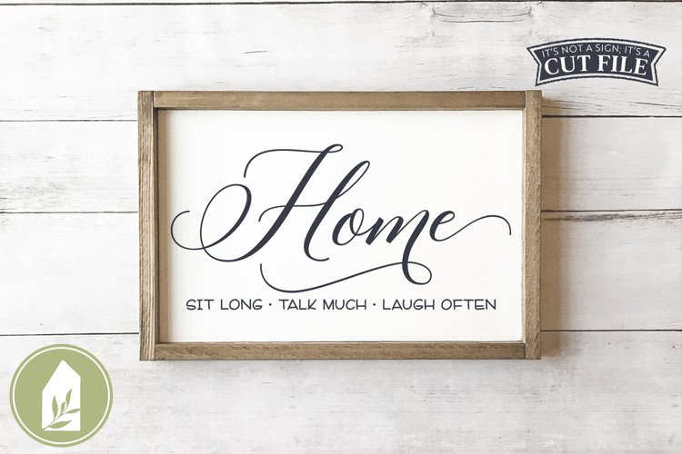 Home SVG, Farmhouse Sign SVG example image 1