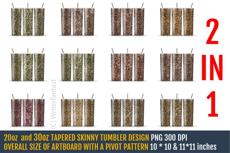 20oz and 30oz TAPERED Skinny Tumbler Sublimation, Gold example image 1