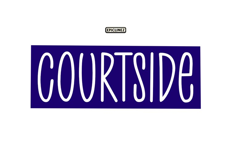 Court Side - A Playful Handwritten Font example