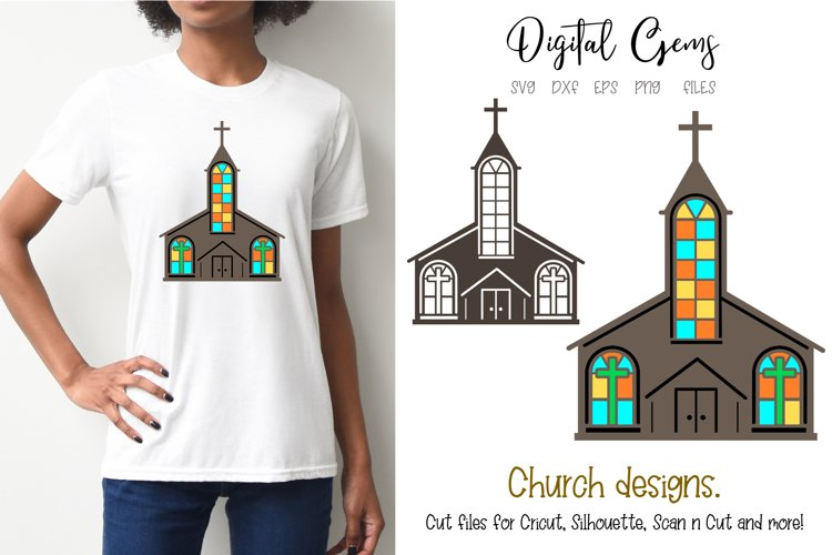 Church SVG / PNG / EPS / DXF files example image 1