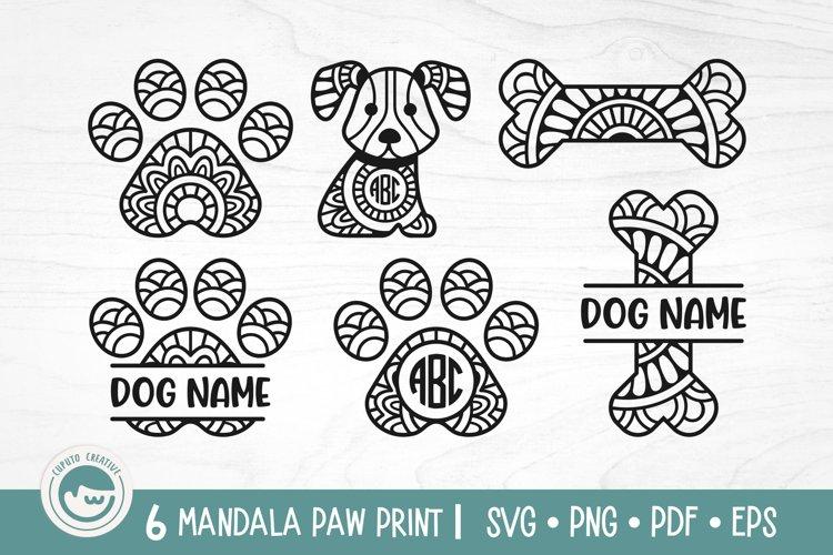 Paw Print Mandala SVG Cut Files example image 1