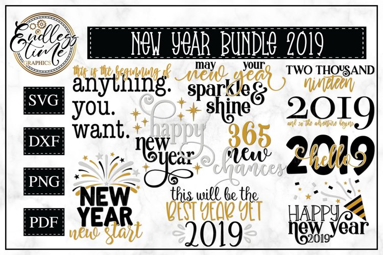 2019 New Year Bundle- 10 Unique New Year Designs example image 1