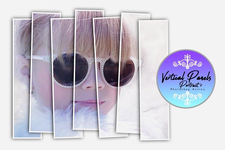 Vertical Panels Portrait Photoshop Action example image 1