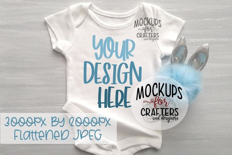 Baby Bodysuit Mock-Up, Easter Theme example image 1