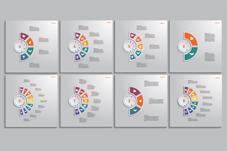Templates Infographic. Multicolored Elements Around Circle. example image 1