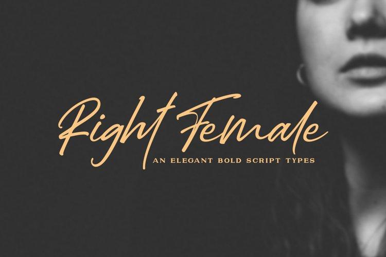 Right Female / Elegant Bold Script example image 1