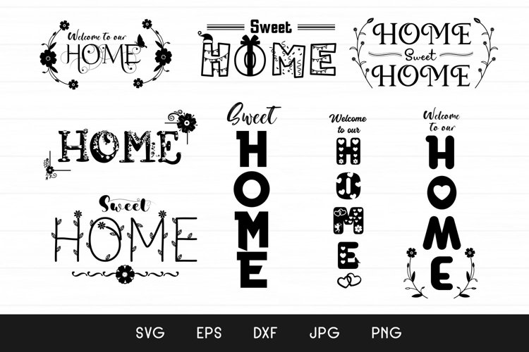 Home Sign - Sweet Home Signs SVG - Home Porch Sign SVG example image 1
