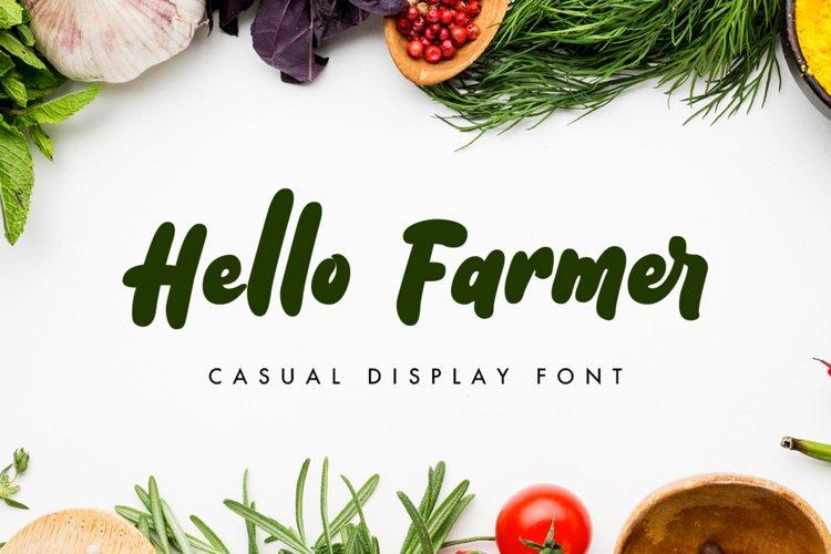 Hello Farmer - Web Font example image 1