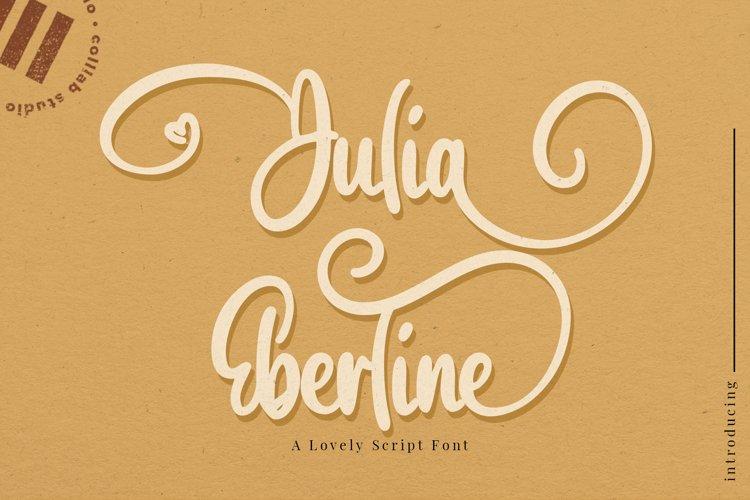 Julia Eberline - A Lovely Script Font example image 1