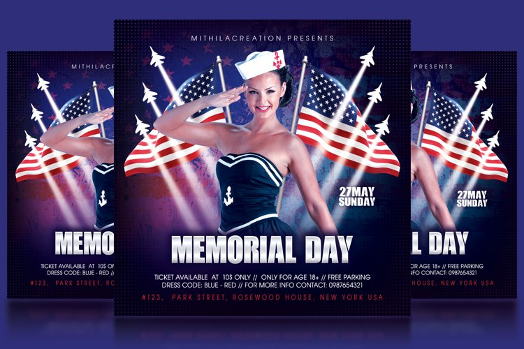 Memorial Day Flyer example image 1