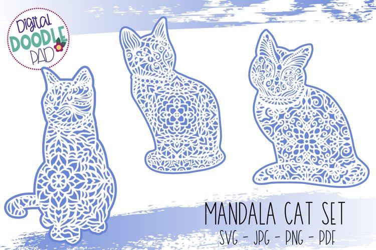 Mandala Cat SVG Set For Cricut & Silhouette