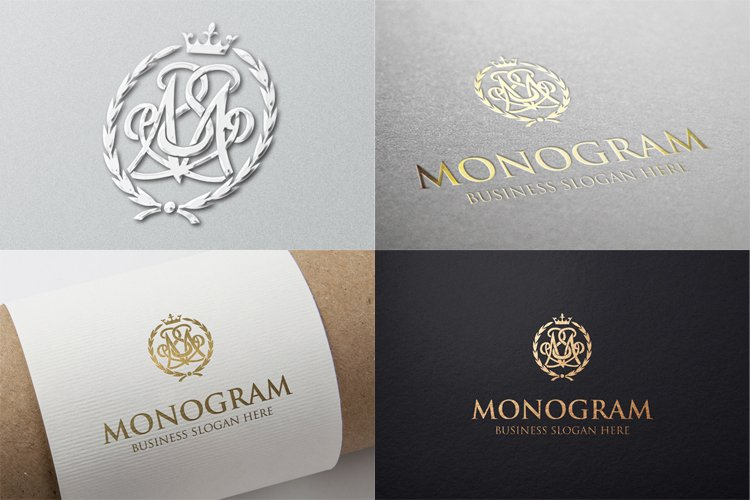 Monogram Logo Vintage M Letter Template