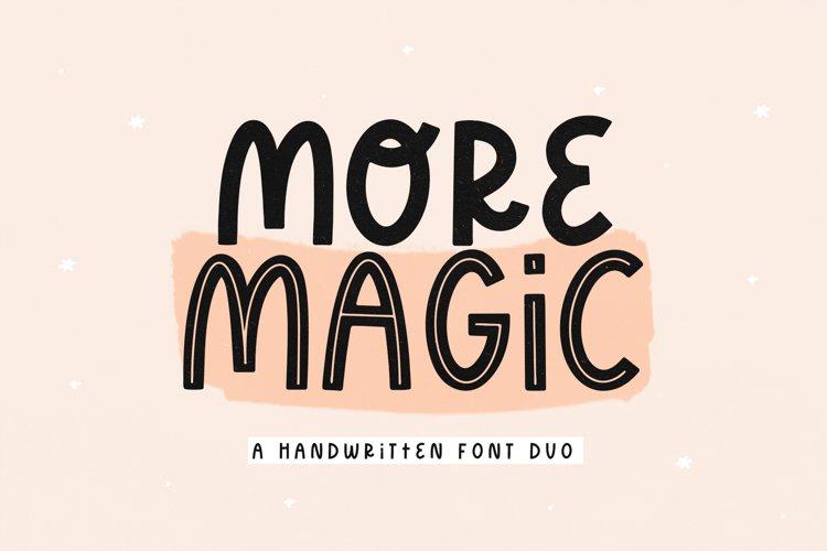 More Magic - A Fun Handwritten Font example image 1