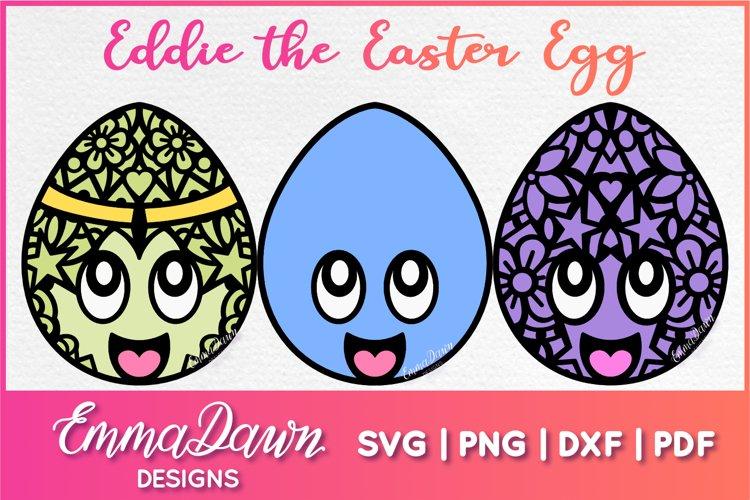 EDDIE THE EASTER EGG SVG 3 MANDALA ZENTANGLE DESIGNS example image 1