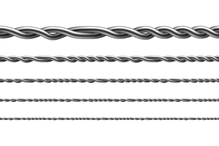 Twisted Iron Wire Seamless Pattern Set Vector example image 1