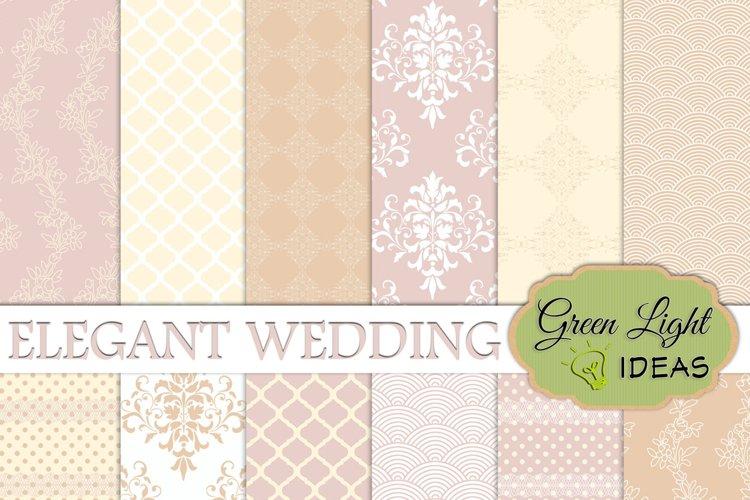 Elegant Wedding Digital Papers example image 1