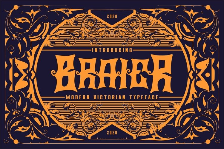 Braier | Modern Victorian Typeface example image 1