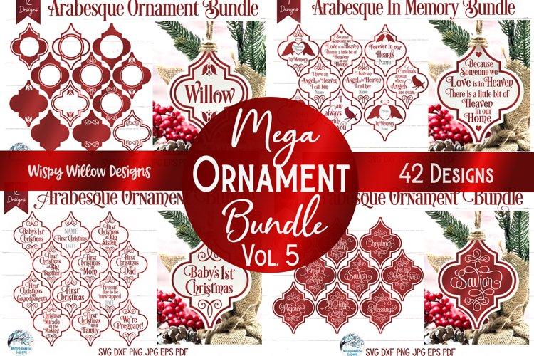 Mega Ornament SVG Bundle 5 | Arabesque Christmas Ornaments