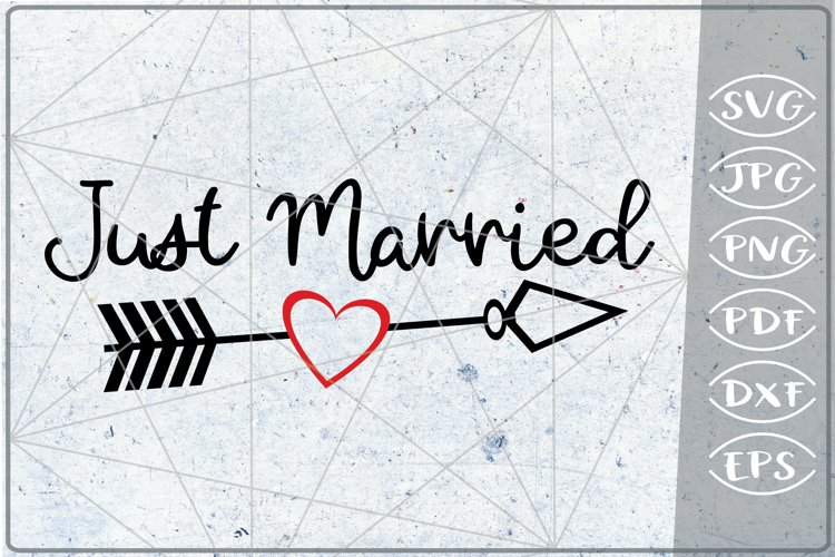 Just Married SVG Crafters Bride Quotes Files Wedding Couple