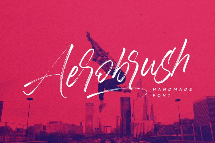 Aerobrush Handwritten Font example image 1