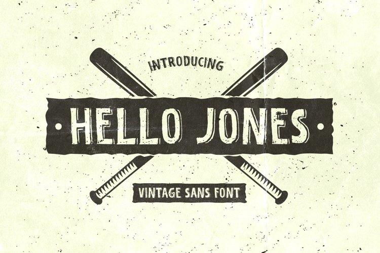 Hello Jones - Vintage Sans Font example image 1