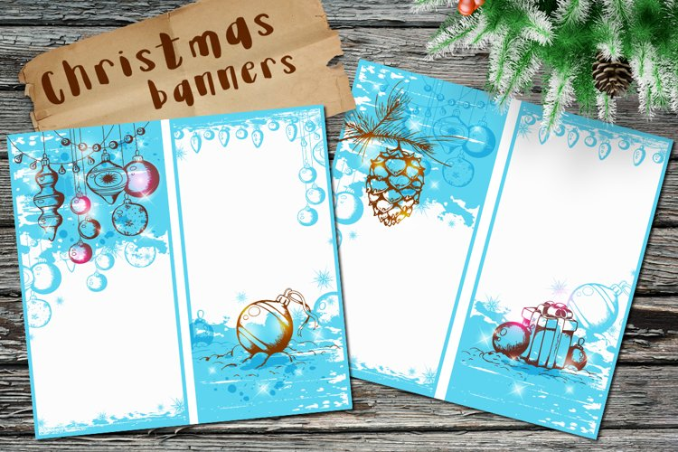 Blue Christmas Banners example image 1
