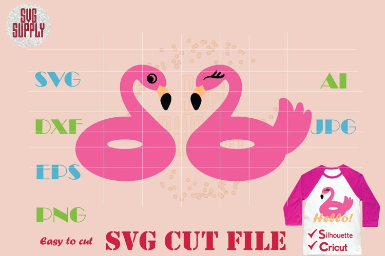 Flamingo SVG  Flamingo Buoy SVG Cut File