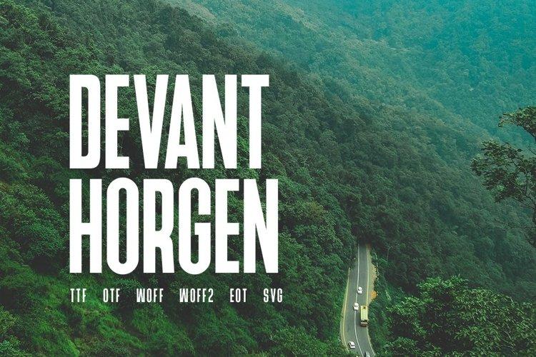 Devant Horgen - Modern Typeface with WebFont example image 1