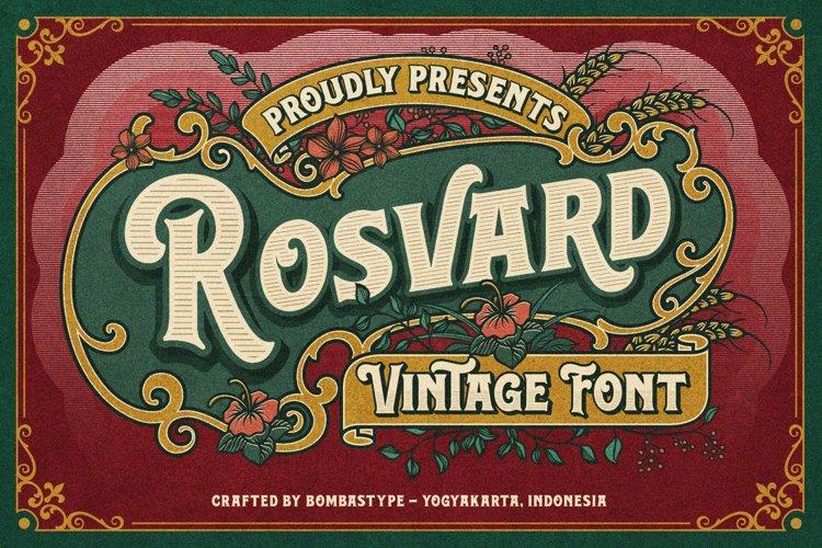 Rosvard - Vintage Layered Typeface example image 1