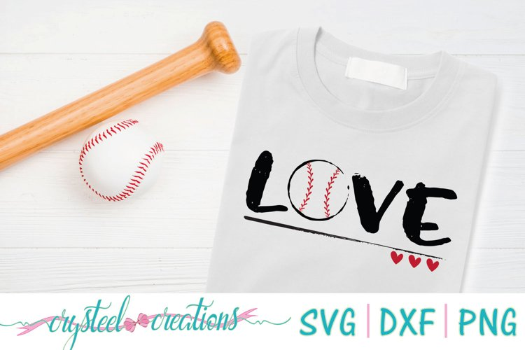 Love Baseball SVG, DXF, PNG example image 1