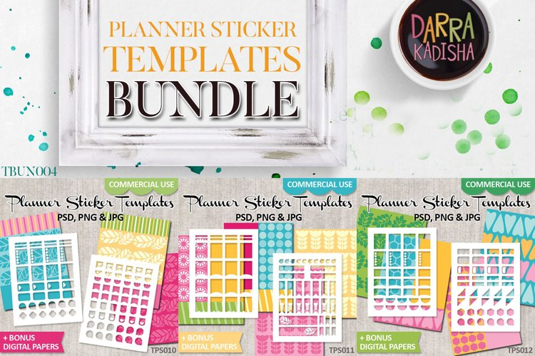 DIY Planner Stickers - Digital Templates Bundle Vol. 4