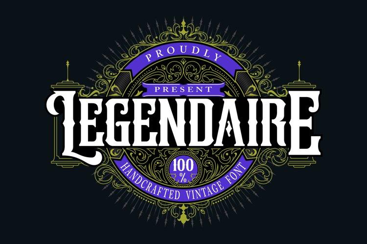 Legendarie | Handcrafted Vintage Font example image 1