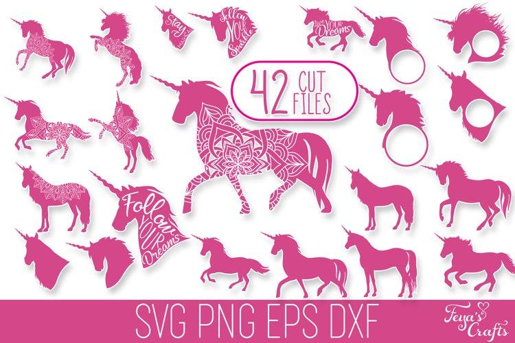 Unicorn SVG Bundle | Unicorn Mandala | Unicorn Monogram SVG example image 1