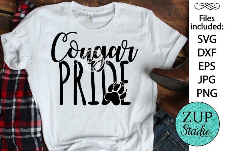 Cougar Pride SVG Digital Design Cutting files 414 example image 1