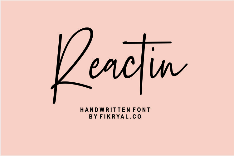 Reactin // handwritten font example image 1