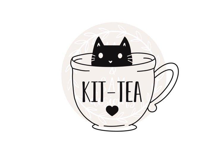 Cat svg, Tea svg, Kit-tea svg, teacup svg