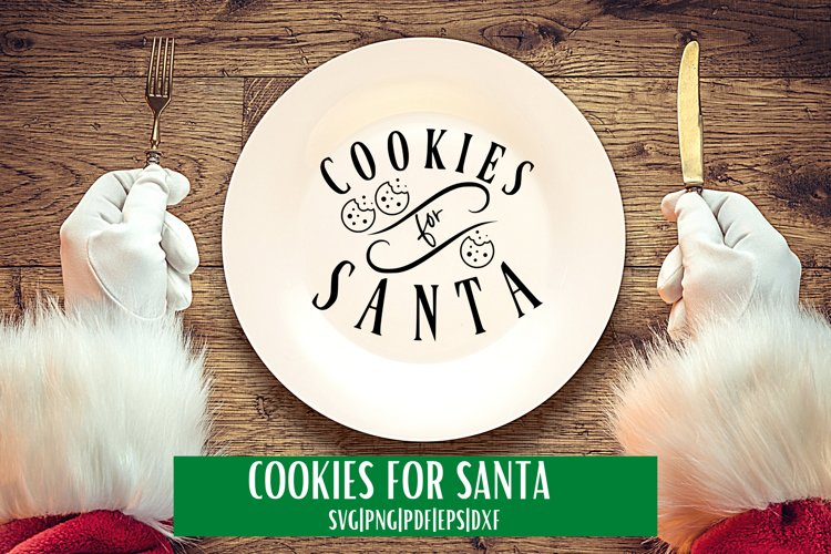 Cookies For Santa SVG example image 1