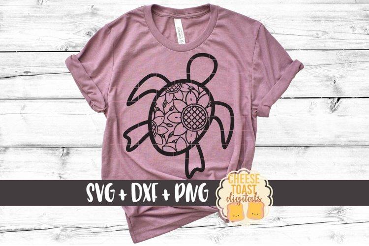 Sea Turtle Zentangle - Mandala SVG PNG DXF Cut Files