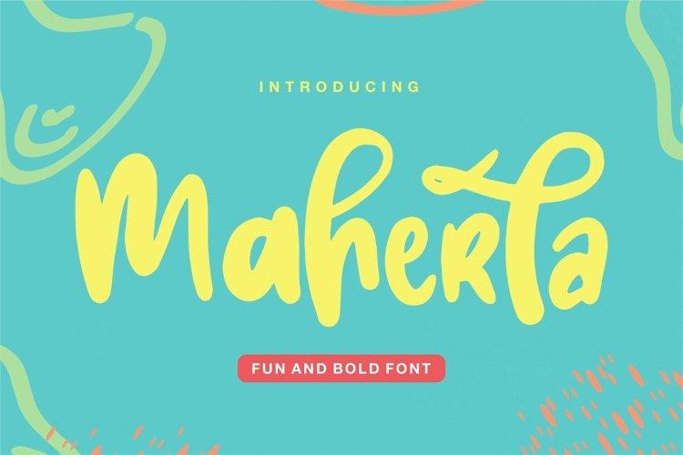 Web Font Maherla - Fun & Bold Font example image 1